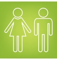 Male and female line icon vector image vector image