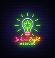 marijuana medical logo neon design concept vector image vector image