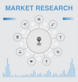 market research infographic with icons contains vector image