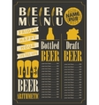 menu for the beer pub vector image vector image