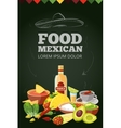 Mexican traditional food vector image