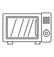 microwave oven icon outline style vector image vector image