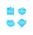milk and dairy product logo label emblem vector image vector image