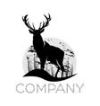 modern deer logo vector image vector image
