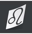 Monochrome Leo sticker vector image vector image