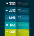 multipurpose infographic template vector image vector image