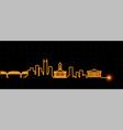 nashville light streak skyline vector image vector image