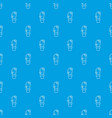 needle cactus pattern seamless blue vector image vector image