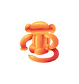 party balloon monkey toy for children realistic vector image vector image