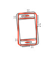 phone device sign icon in comic style smartphone vector image vector image