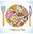 plate with food vector image vector image