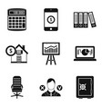 pledge icons set simple style vector image vector image