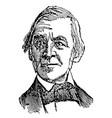 ralph waldo emerson vintage vector image vector image