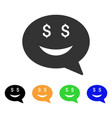 rich smiley message icon vector image