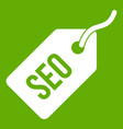 seo tag icon green vector image vector image