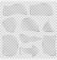 set glass banners vector image