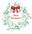 set of hand drawn sketch christmas traditional vector image