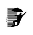 silhouette a jumping man vector image