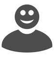 smiled man flat icon vector image vector image