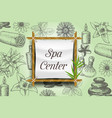 spa poster banner template vector image