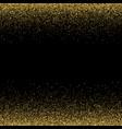 sparkling glitter border frame gold vector image