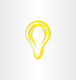 stylized bulb light idea symbol vector image