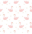 swan pink cute baby simple seamless pattern vector image vector image