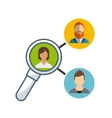 teamwork people business icon vector image vector image