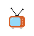 television icon on white vector image vector image