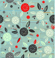 traditional decorative flowers on a background of vector image vector image