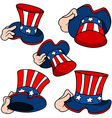 Uncle Sam Hat Set vector image vector image