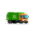 urban garbage truck trash sorting recycling vector image