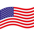 us flag simplle vector image