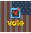 USA Election badge vector image vector image