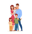 walking happy family cartoon style vector image