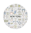 Web Banner or Emblem New York vector image vector image