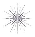 Sunburst in black and white colors design vector image
