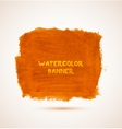 Abstract square orange watercolor hand-drawn vector image