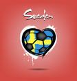 4527 - denmark heart soccer vector image vector image