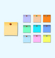 a colored set of sticky notes vector image vector image