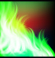 abstract rainbow green fire background vector image vector image
