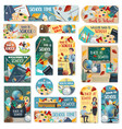 back to school education tags and labels vector image