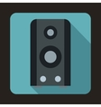Black sound speaker icon in flat style vector image vector image