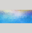 blue triangle horizontal banner vector image vector image