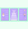 bridal shower invitation set banners vector image vector image