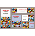 Business cards set with city or town vector image