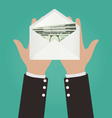 Businessman Hands Giving Envelope With Money vector image