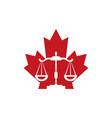 canada law logo design vector image vector image