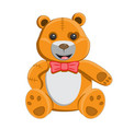 children s toy teddy bear with bow tie and on vector image vector image