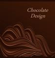 chocolate wavy swirl background creamy milk vector image vector image